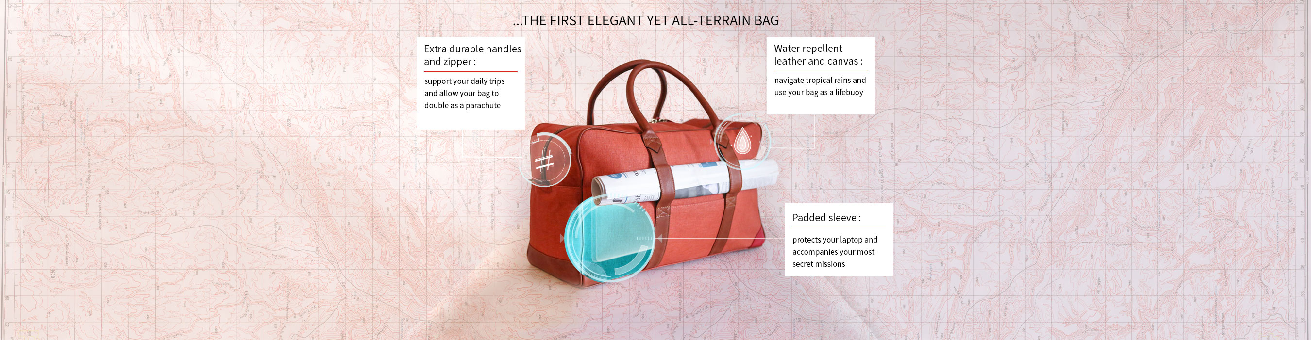 THE FIRST ELEGANT YET ALL-TERRAIN BAG